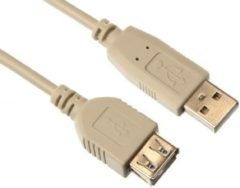 HQ - USB 2.0 verlengkabel - Beige - 5 meter