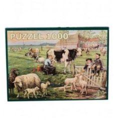 Merkloos / Sans marque Ot En Sien Puzzel - In De Weide 1000pc