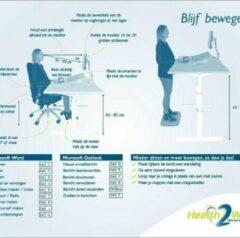 Blauwe Ergo2Work Muismat – Sneltoetsen en ergonomische tips