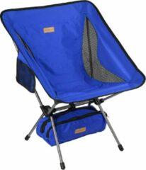 Campking Compact Campingstoel - Blauw - ultralicht en opvouwbare campingstoel in een tas, buitenstoel opvouwbaar - voor buiten, kamperen, picknicken, wandelen