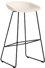 HAY About a Stool AAS38 - cream white - Gestell schwarz - H85 cm