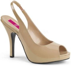 Creme witte Pleaser Pink Label Pumps -45 Shoes- EVE-04 US 14 Creme