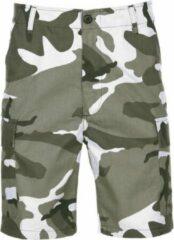 Groene merkloos sans marque shorts in urban camouflage print