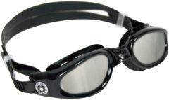 Zwarte Aqua Sphere Kaiman Goggles Mirrored Lens - Zwembrillen