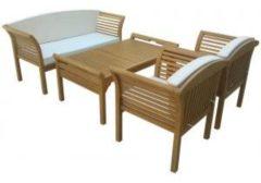 """Somultishop Lounge set, tuinset, eucalyptus hout, """"Malaga""""inclusief kussens"""