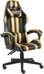 VidaXL Racestoel kunstleer zwart en goudkleurig VDXL 20520