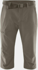 Maier Sports - Jennisei - Shorts maat 62 - Regular, bruin/grijs/olijfgroen