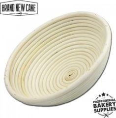 BrandNewCake Rijsmandje Riet Rond 1000g (Ø25cm) - Banneton voor Deeg Rijzen en Brood Bakken