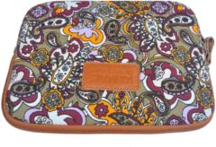Kinmac – Laptop/Tablet Sleeve met Paisley print tot 10 inch – 27 x 21 x 1,5 cm - Multi colour