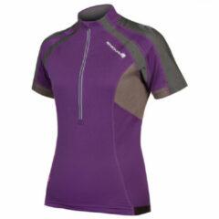 Paarse Endura Womens Short Sleeve Hummvee Jersey - Fietstruien