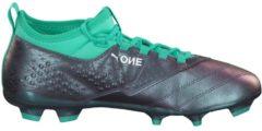 Fußballschuhe One 3 IL Lth FG mit sockenähnlicher Konstruktion 104928-01 Puma Color Shift-Biscay Green-White-Black