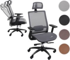 Heute-wohnen Bürostuhl HWC-A20, Schreibtischstuhl Drehstuhl, ergonomisch Kopfstütze Textil