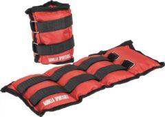 Gorilla Sports Set enkel- of polsgewichten 3 kg (2 x 1,5 kg) Rood