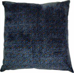 Linen & More Luipaard blauw Kussen 60 x 60 cm