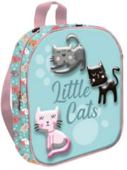Kids Licensing schooltas Little Cats 24 cm polyester lichtblauw