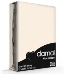 Zandkleurige Damai - Hoeslaken (tot 25 cm) - Double Jersey - 140 x 200/210/220 - 150 x 200 cm - Silver sand