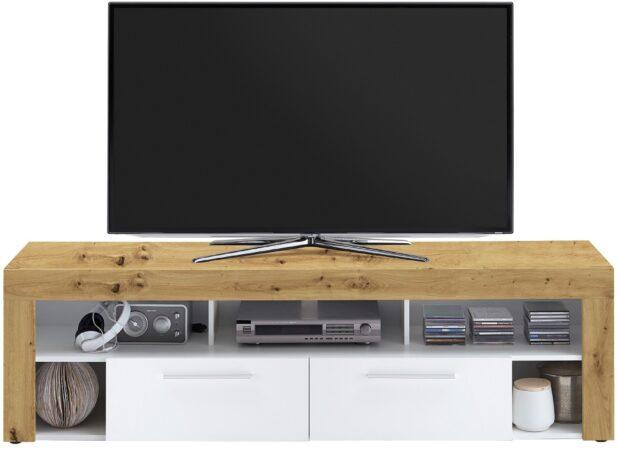 Afbeelding van FD Furniture Tv-meubel Raymond 180 cm breed in artisan eiken met wit