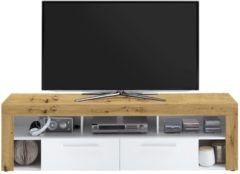 FD Furniture Tv-meubel Raymond 180 cm breed in artisan eiken met wit