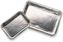Zilveren Weber Aluminium lekbakjes groot, 10 stuks