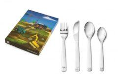 Zilveren Zilverstad Lucardi - Gift Items - Kinderbestek bouwvoertuigen