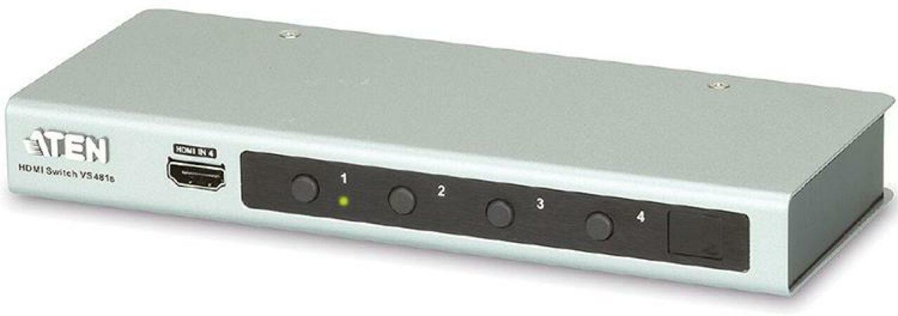 Afbeelding van 4 Poorts HDMI 2.0 Schakelaar met 3D en 4K - ATEN - Aten