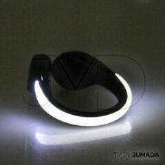 Jumada Reflecterende Hardloop Schoenverlichting - Schoenband - Veiligheid - One Size - Wit