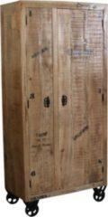 SIT Möbel Schrank aus lackiertem Mangoholz mit antikfinish auf Rollen Sit-Möbel Rustic