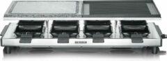 Roestvrijstalen Severin RG 2373 - Raclettegrill - zilver met natuurlijke grillsteen