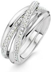 Ti Sento Milano TI SENTO - Milano 12056ZI zilveren ring met zirkonia Maat 54 is 17.25mm
