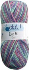 Beijer Oke Eko fil gemeleerd acryl garen - licht pastel (332) - naald 3,5 a 4
