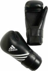 Witte Adidas Semi Contact Handschoenen Zwart XS