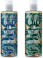 Faith in nature blue cedar shampoo en body wash