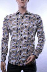 Gouden Corrino lange mouw overhemd blouse heren / volwassenen