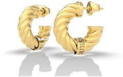 Goudkleurige Guess Jewellery LET'S GET LOUD UBE70003 Volwassenen Oorhangers 20mm