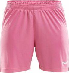 Craft Squad Short Solid dames Sportbroek - Maat S - Vrouwen - roze/wit