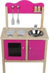 New Classic Toys Keukentje hout: roze 54x30x83 cm