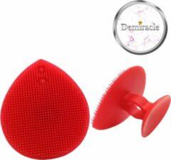Demiracle Siliconen Gezichtsborstel - Rood - Borstel - Gezicht - Gezichtsreiniging - Face cleaner - Beauty pad