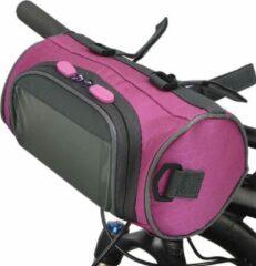 Telestore Fietstas stuurtas met smartphone houder – waterdicht – Fiets tas stuur – Smartphone houder fiets – T/M 6.2 inch - roze