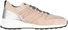Rosa Hogan Rebel Scarpe sneakers donna camoscio r261