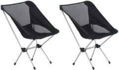 Zwarte VidaXL Campingstoelen 2 st met draagtas 54x50x65 cm aluminium