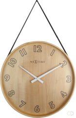 Rode NeXtime Loop Rood - klok - Rond - Hout en stof - Stil uurwerk - Ø 26 cm - Rood