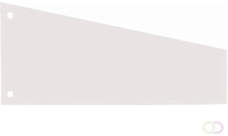 Afbeelding van Scheidingsstrook Elba trapezium 105x240x55nm wit