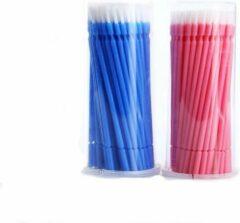Lashes & More Kwastjes Tanden Bleken - Blauw 100 stuks + Roze 100 stuks - Brush applicators