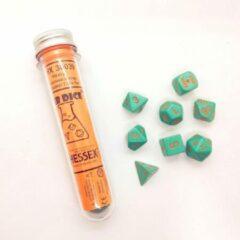 Chessex 8-Die set Lab Dice Heavy Turquoise/Orange