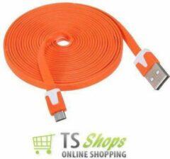 Qatrixx Micro USB Kabel Datacable 3 meter Universeel Orange Oranje