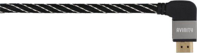 Afbeelding van Antraciet-grijze Avinity Classic HDMI-kabel 90° 0,75m Klasse 2 HDMI kabel Antraciet