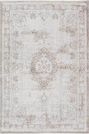 Afbeelding van Taupe Louis de Poortere vloerkleden Louis de Poortere Vintage Fading Medallion Salt & Pepper 8383 200x280 cm