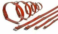 Rode Pet Products Lederen honden halsband rood - 62 cm x 25 mm