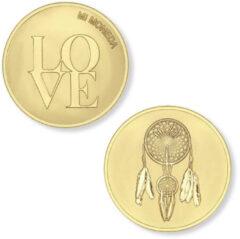 Mi Moneda MON-LOV-02 Love and Dreamcatcher goudklurig (XS)