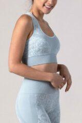 Grijze REVIVE Sportswear REVIVE seamless - Yoga bh - Sportbh VIANE - duurzaam - EU gemaakt